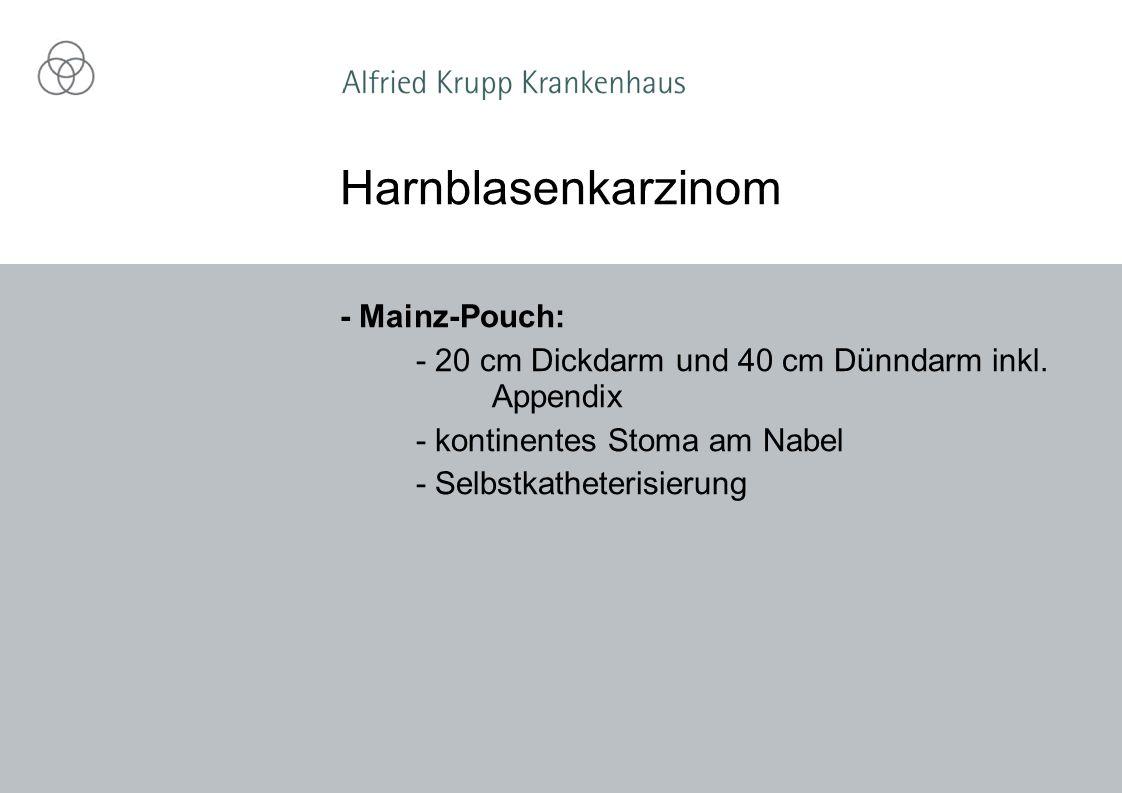 Harnblasenkarzinom - Mainz-Pouch: