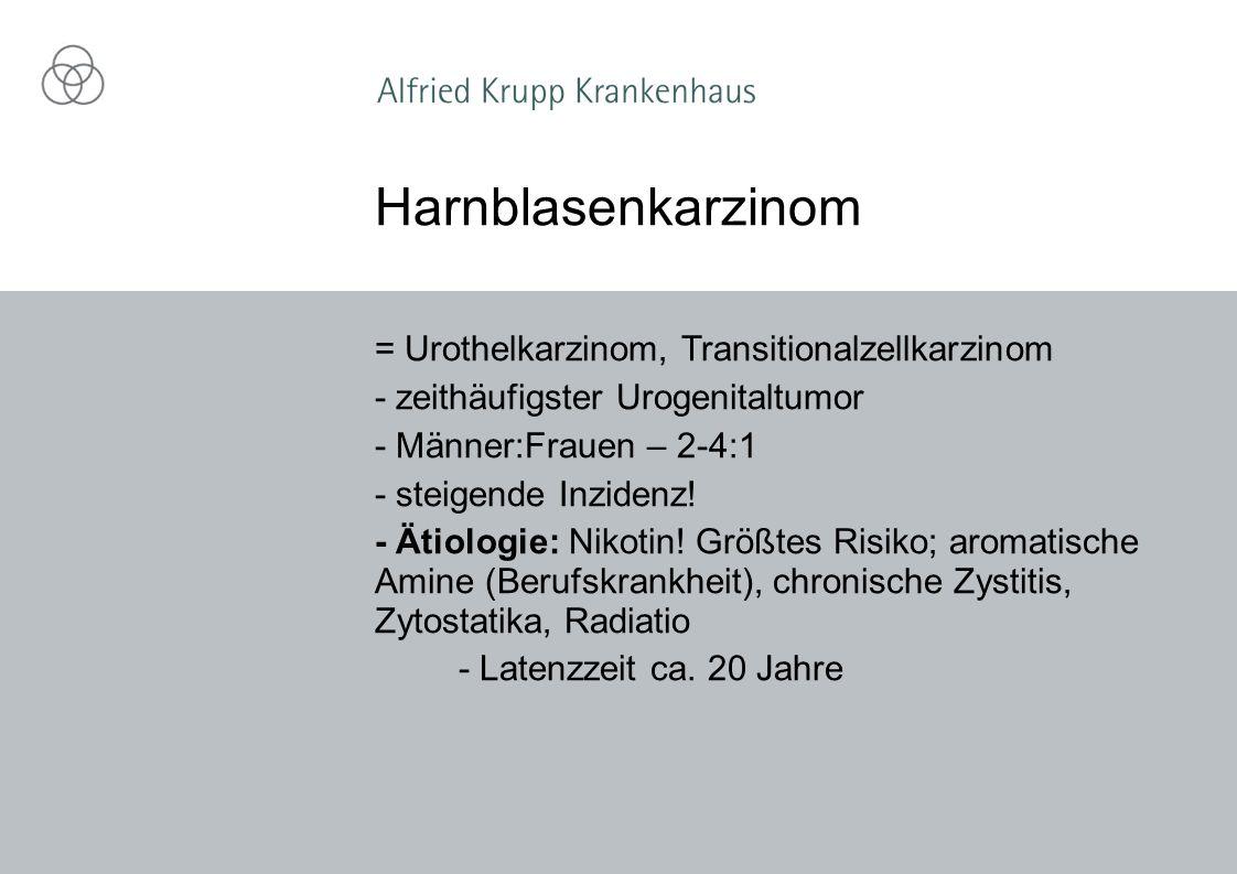 Harnblasenkarzinom = Urothelkarzinom, Transitionalzellkarzinom
