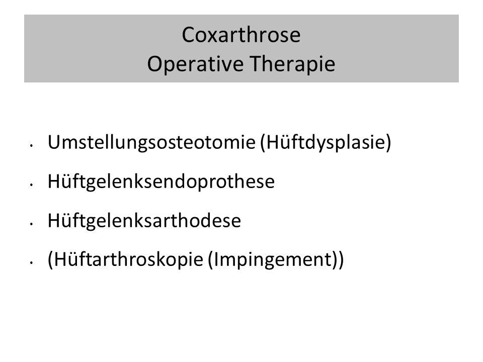 Coxarthrose Operative Therapie