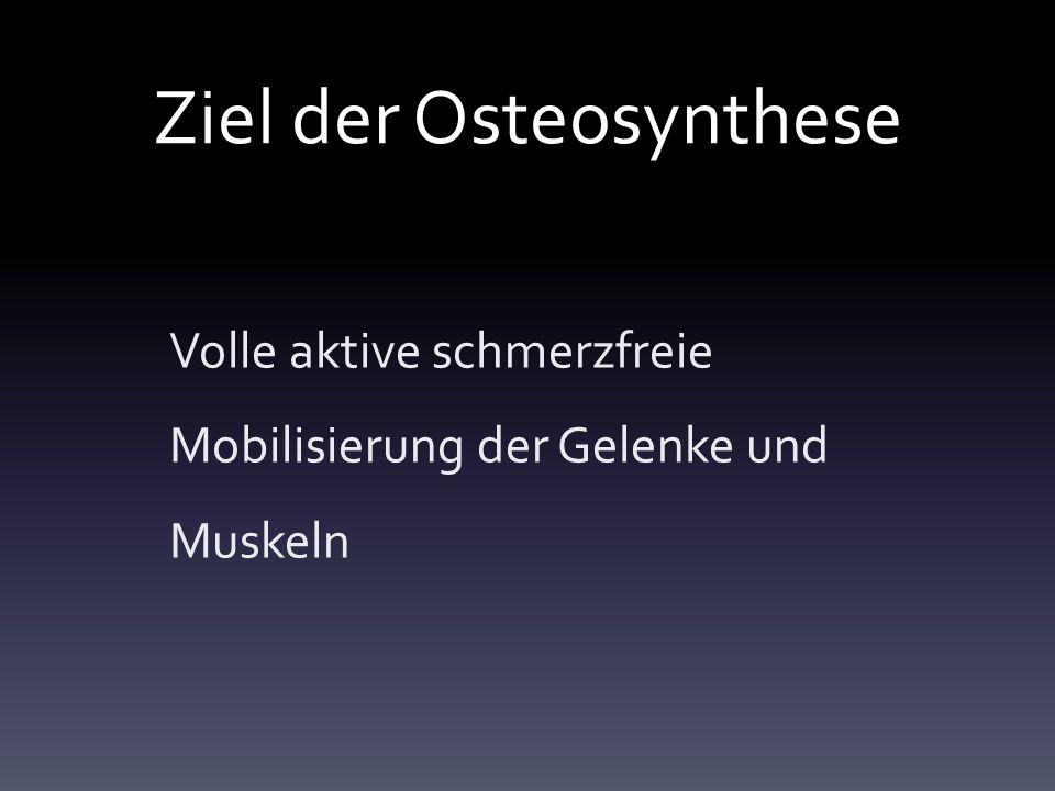 Ziel der Osteosynthese