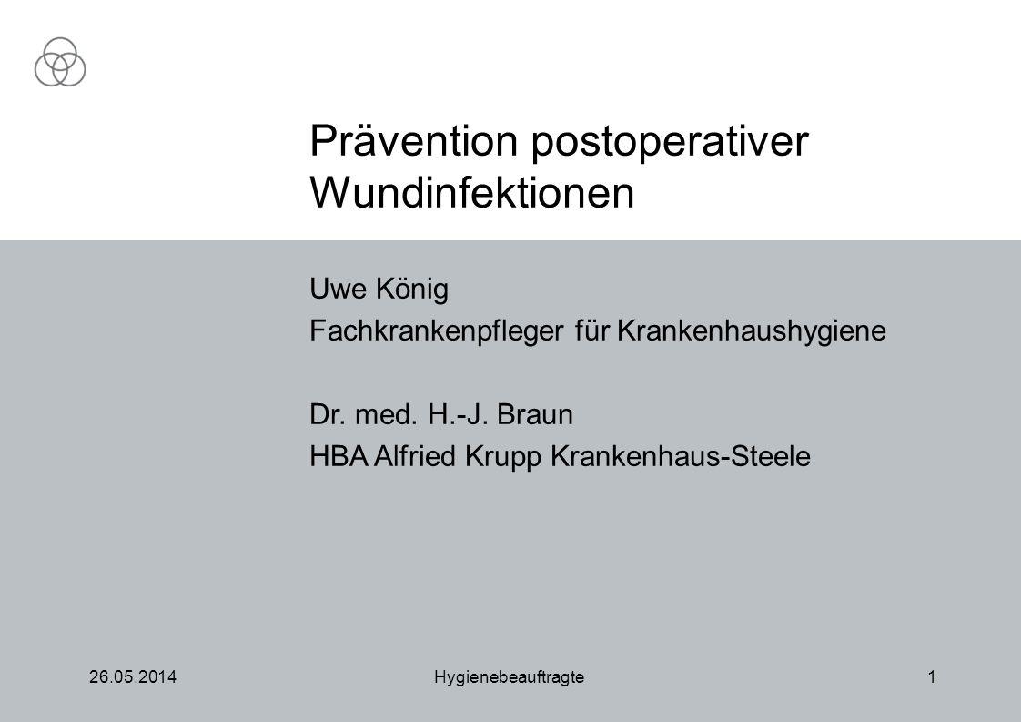 Prävention postoperativer Wundinfektionen