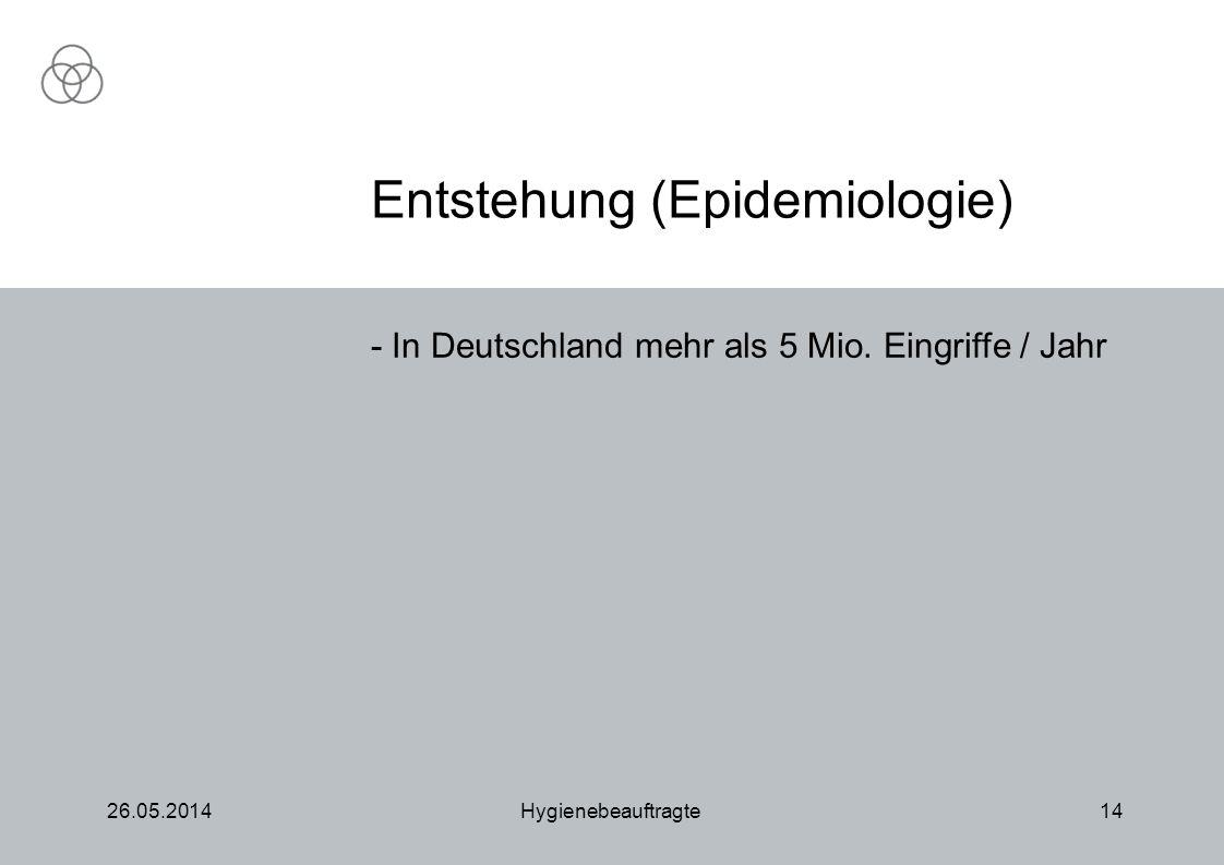 Entstehung (Epidemiologie)