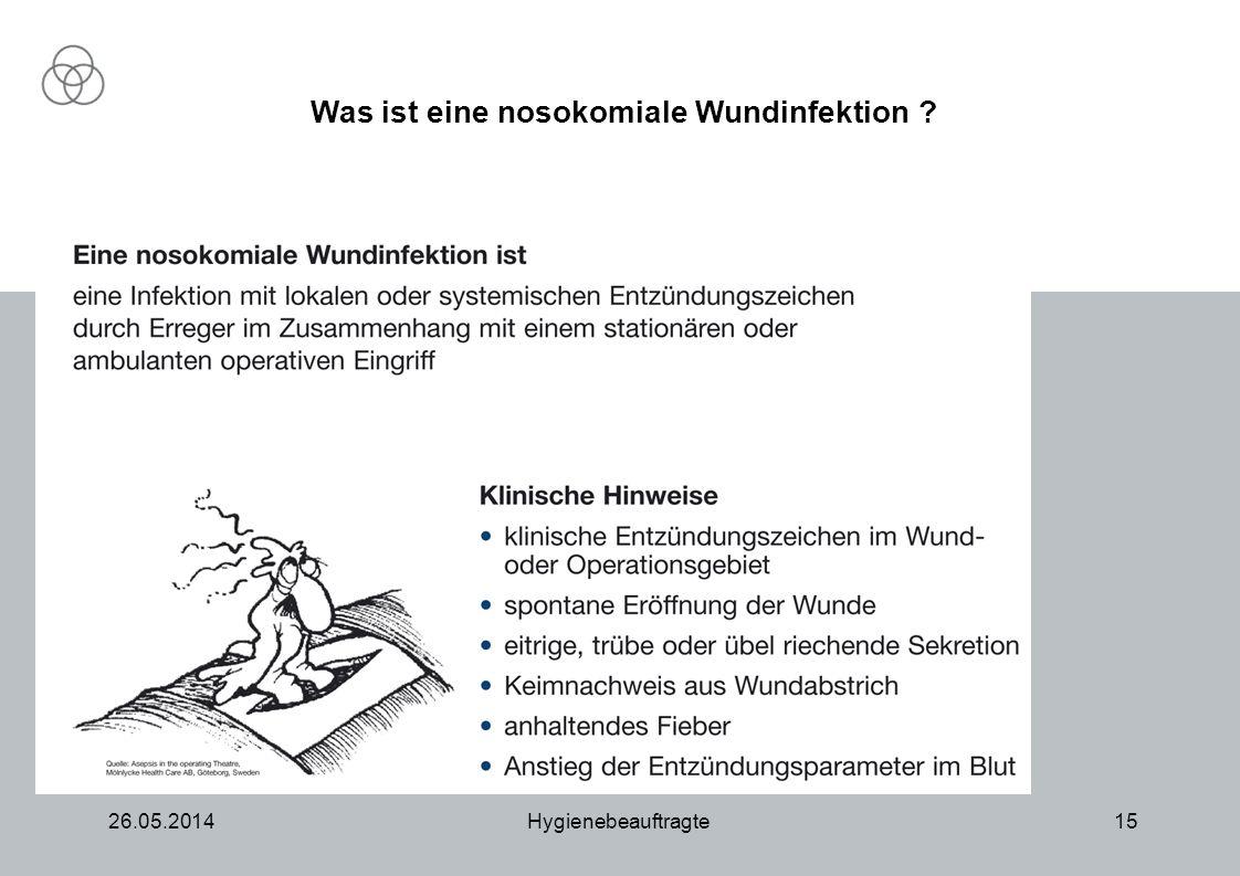 Was ist eine nosokomiale Wundinfektion
