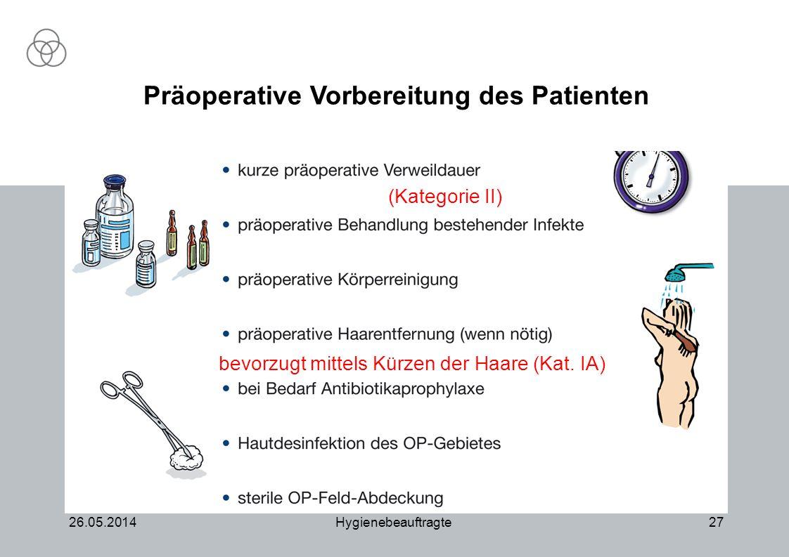 Präoperative Vorbereitung des Patienten