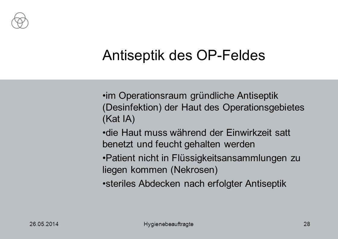 Antiseptik des OP-Feldes