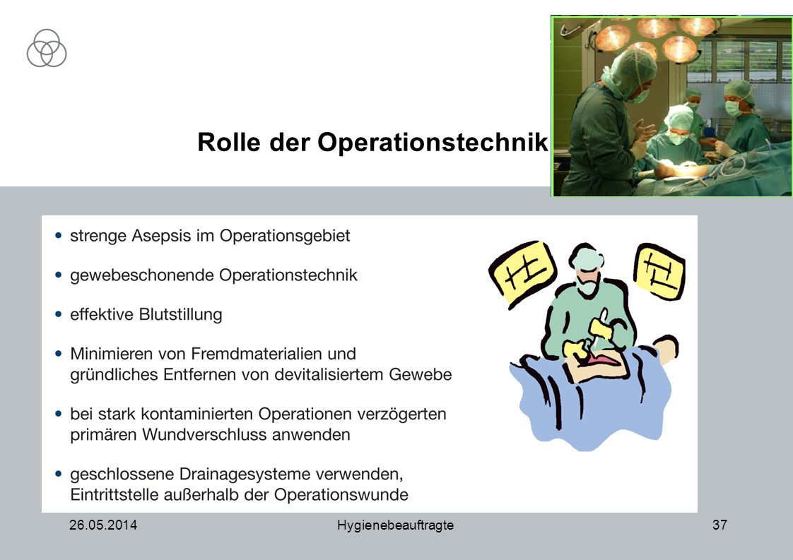 Rolle der Operationstechnik