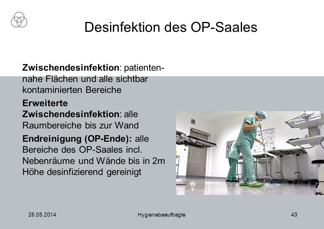 Desinfektion des OP-Saales
