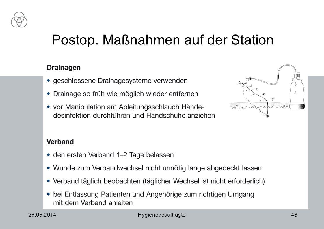 Postop. Maßnahmen auf der Station