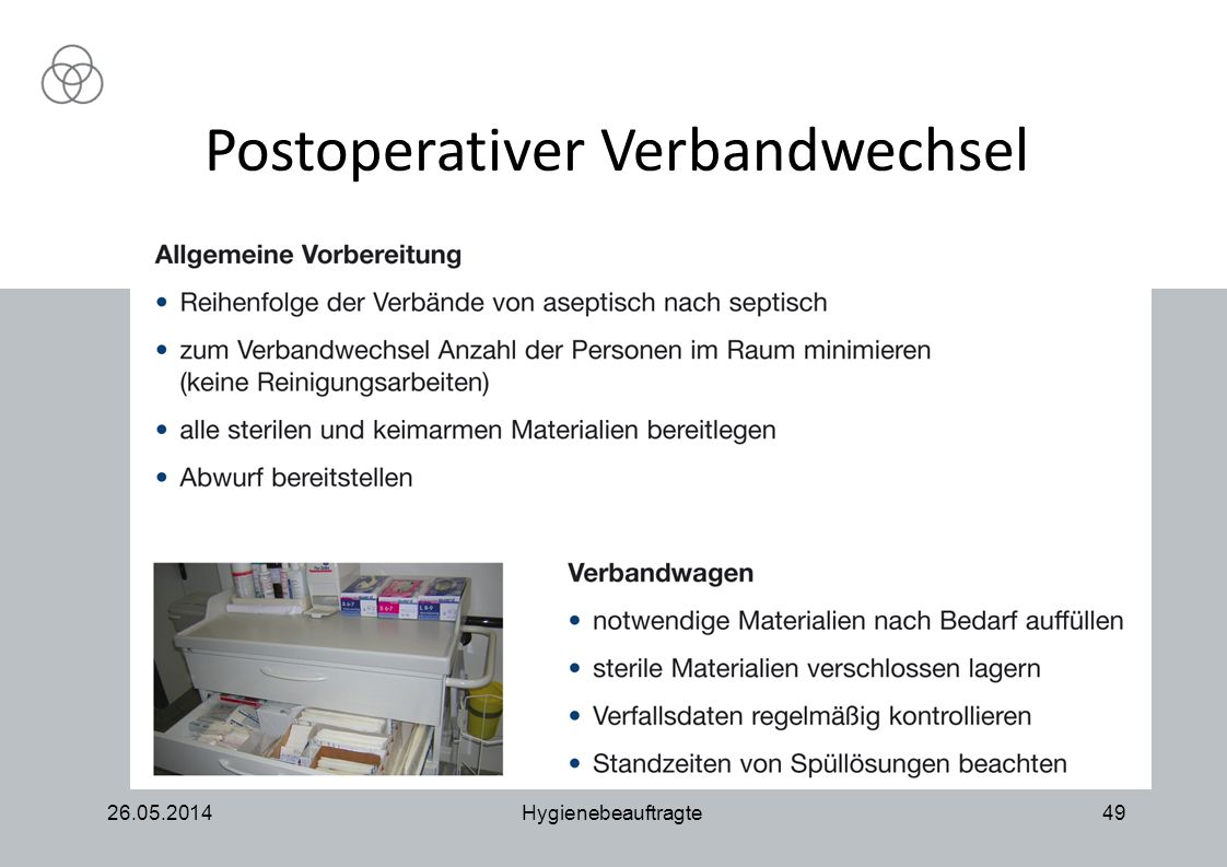 Postoperativer Verbandwechsel