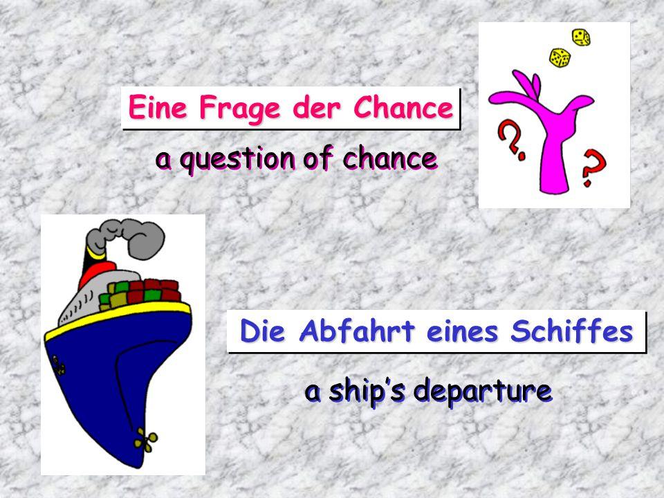Die Abfahrt eines Schiffes