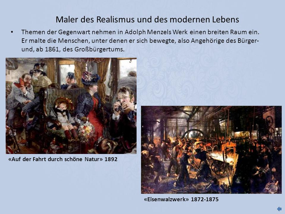 Maler des Realismus und des modernen Lebens