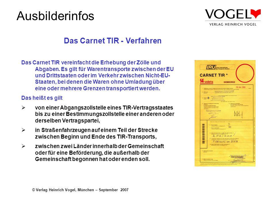 Das Carnet TIR - Verfahren