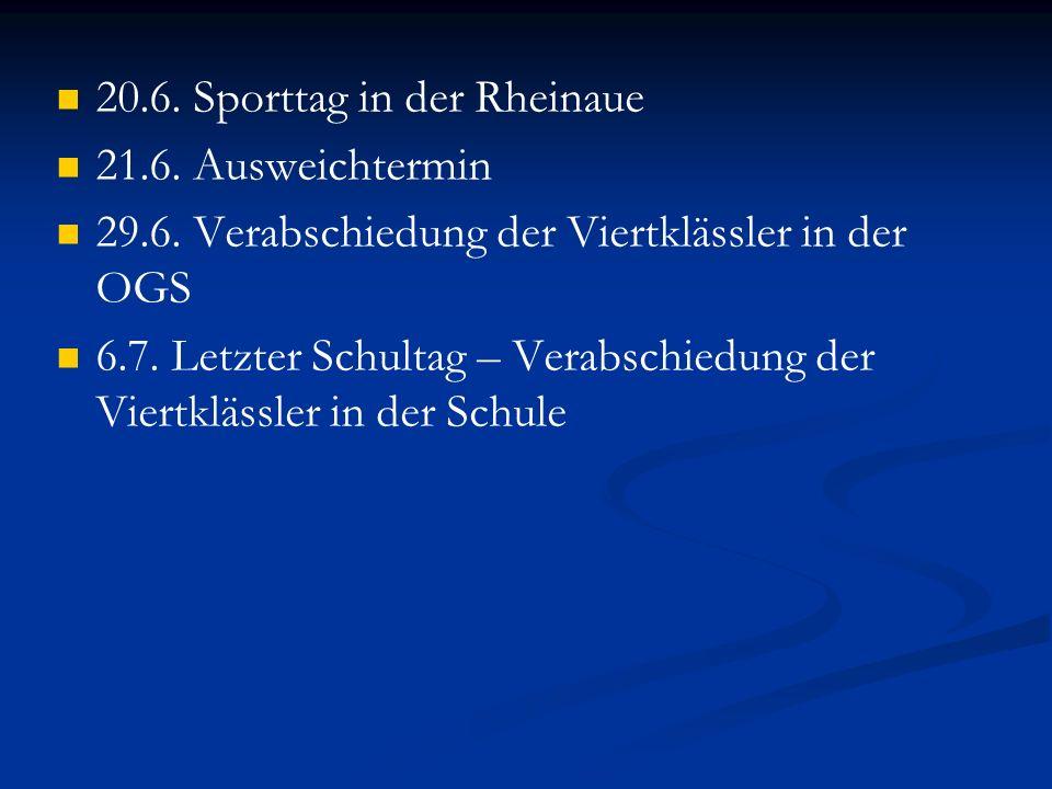 20.6. Sporttag in der Rheinaue
