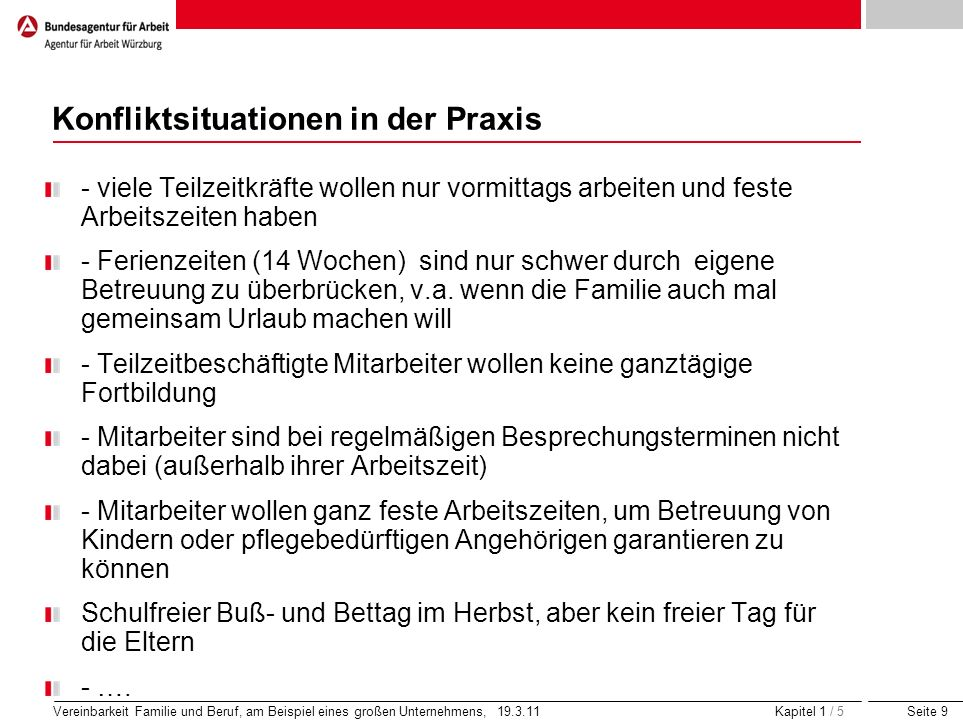 Konfliktsituationen in der Praxis