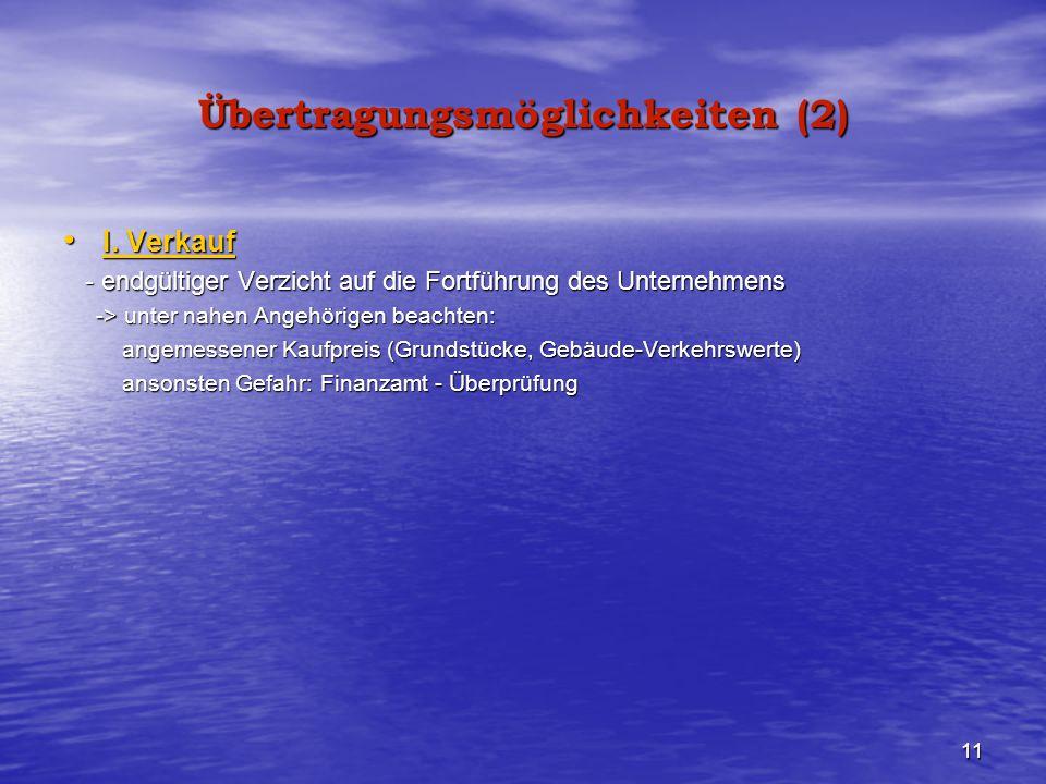 Übertragungsmöglichkeiten (2)