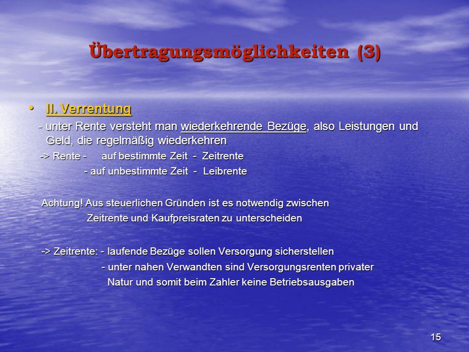 Übertragungsmöglichkeiten (3)