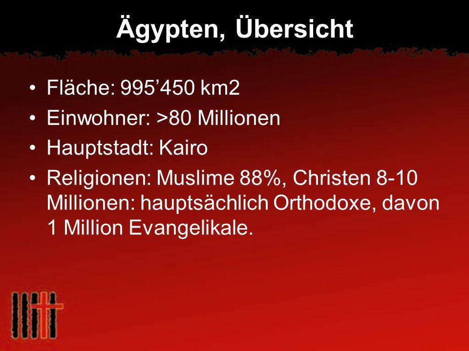 Ägypten, Übersicht Fläche: 995'450 km2 Einwohner: >80 Millionen
