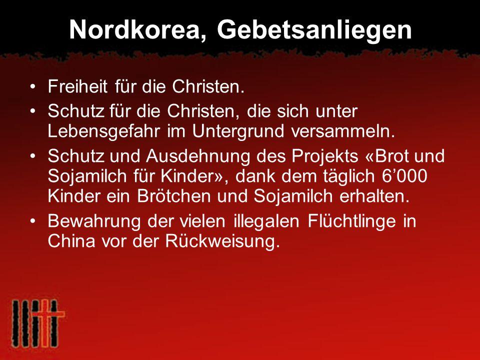 Nordkorea, Gebetsanliegen