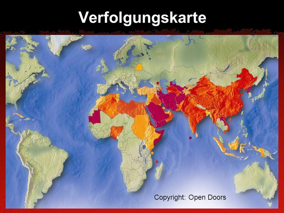 Verfolgungskarte Copyright: Open Doors