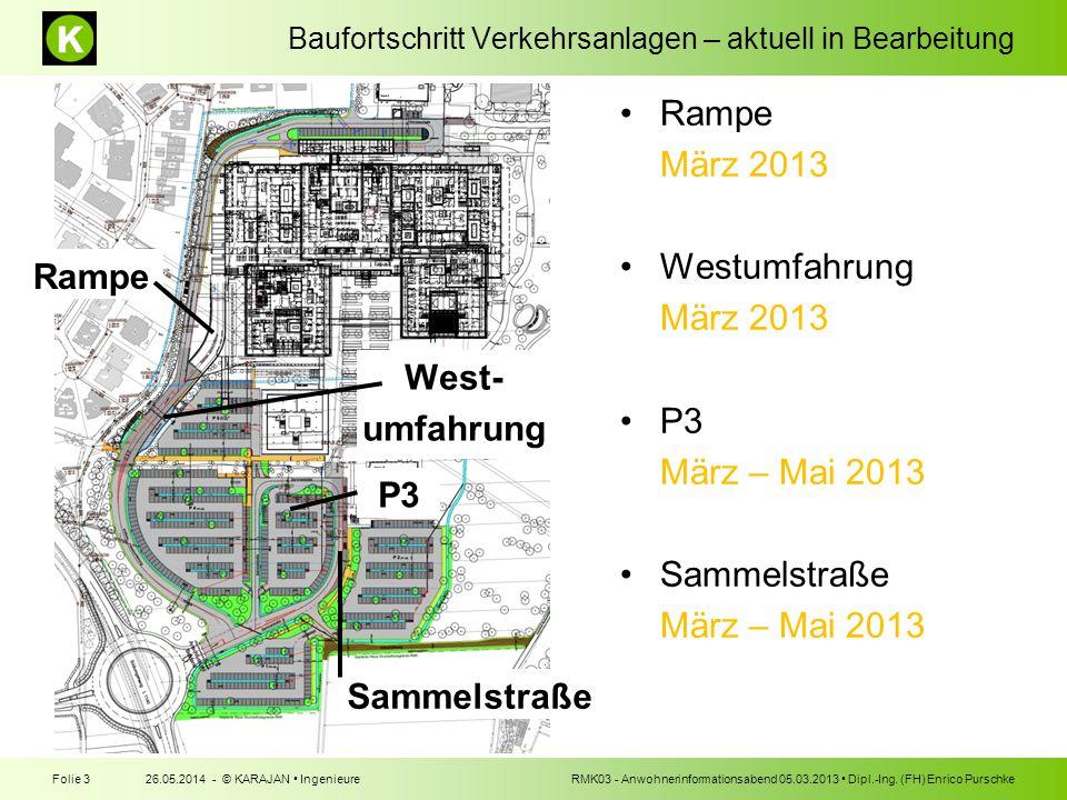 Rampe West- umfahrung P3 Sammelstraße