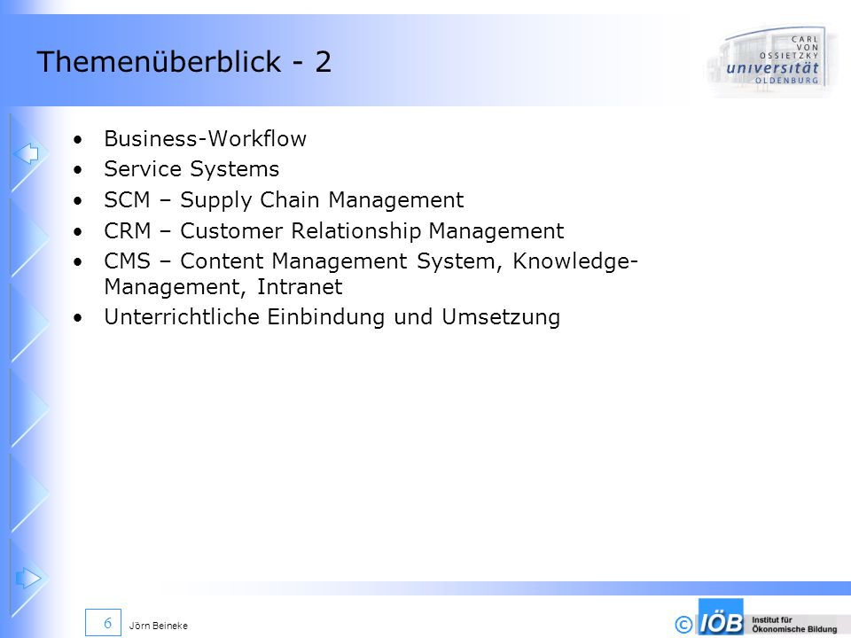 Themenüberblick - 2 Business-Workflow Service Systems