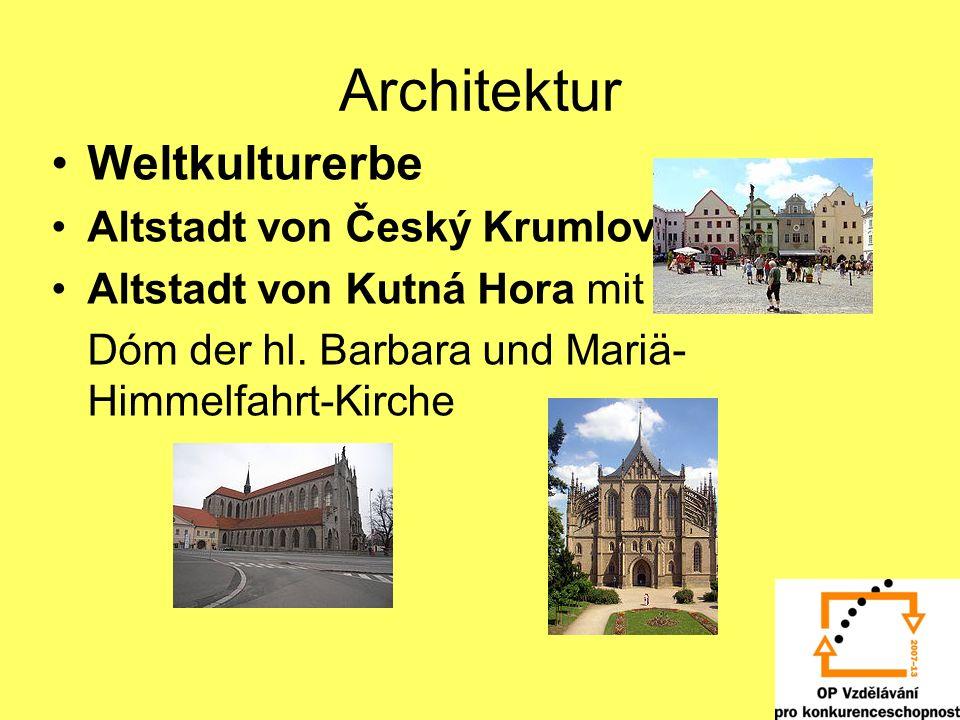 Architektur Weltkulturerbe Altstadt von Český Krumlov