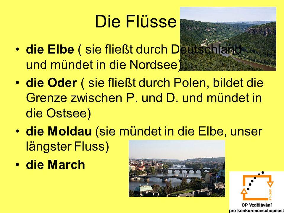 Die Flüsse die Elbe ( sie fließt durch Deutschland und mündet in die Nordsee)