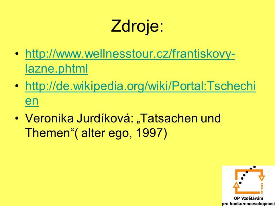 Zdroje: http://www.wellnesstour.cz/frantiskovy-lazne.phtml