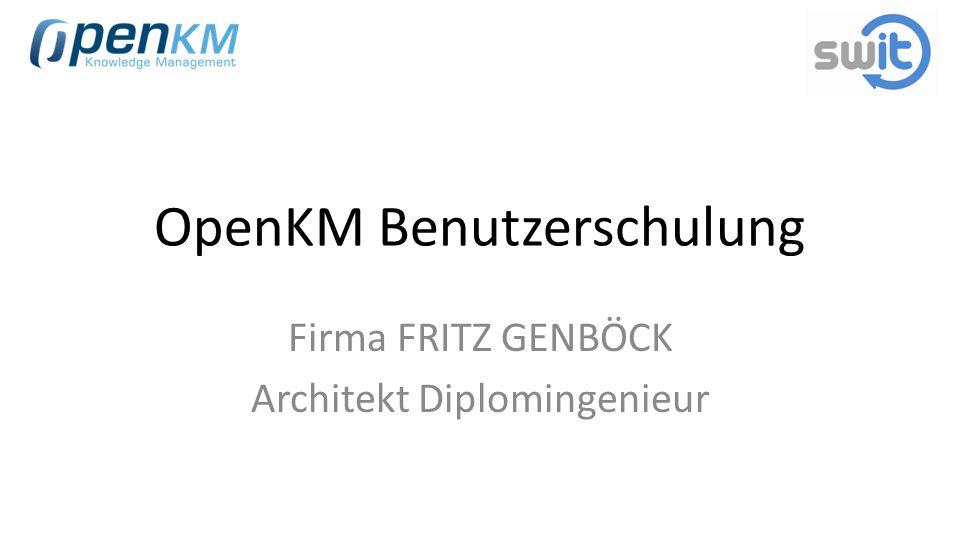 OpenKM Benutzerschulung