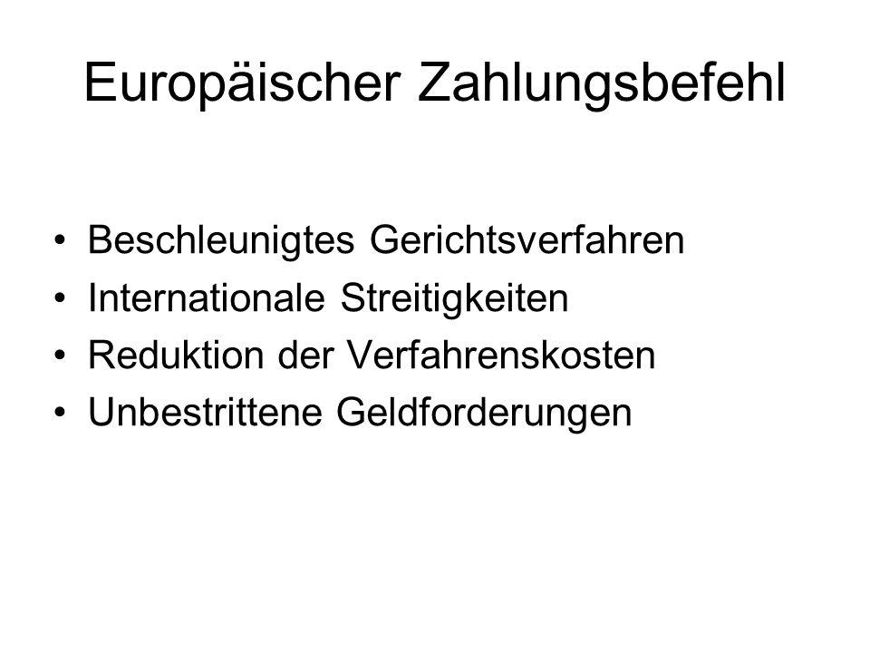 Europäischer Zahlungsbefehl
