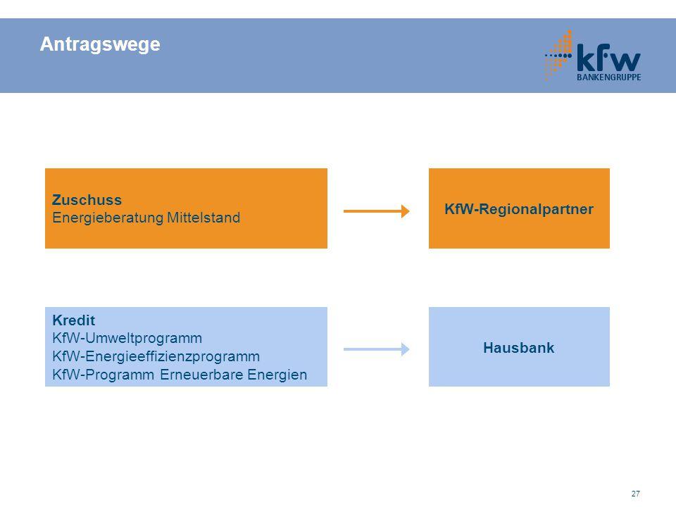 Antragswege Zuschuss KfW-Regionalpartner Energieberatung Mittelstand