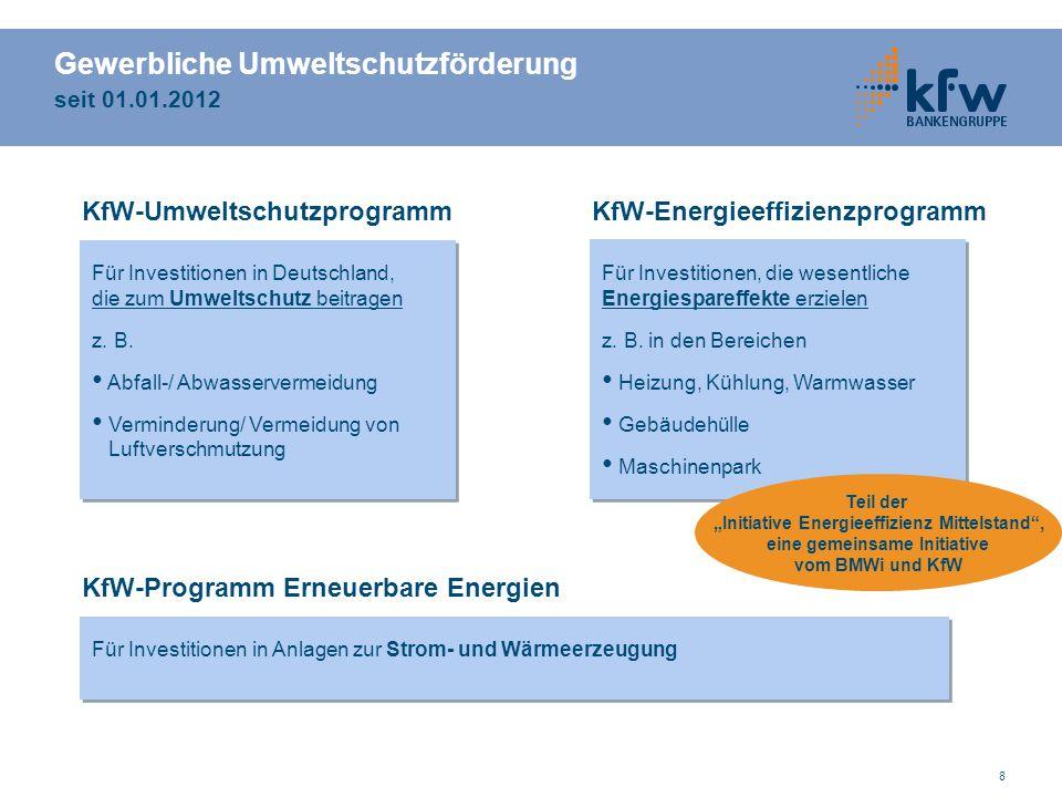 Gewerbliche Umweltschutzförderung seit 01.01.2012