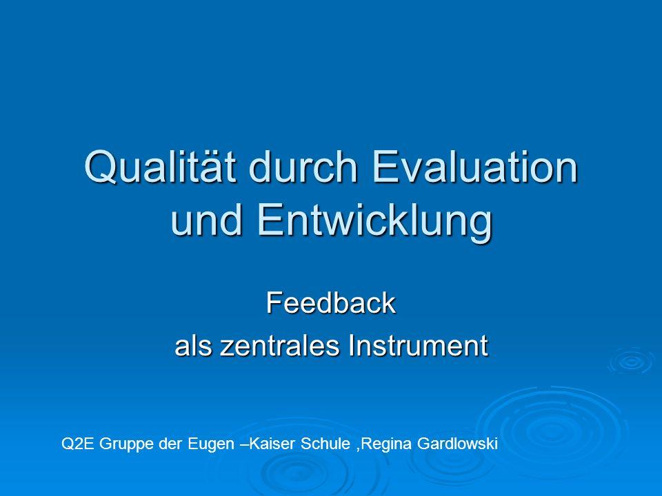 Qualität durch Evaluation und Entwicklung