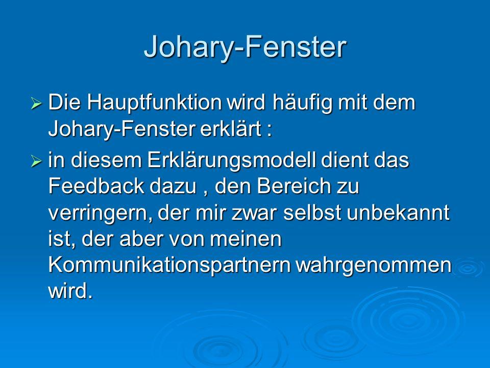 Johary-Fenster Die Hauptfunktion wird häufig mit dem Johary-Fenster erklärt :