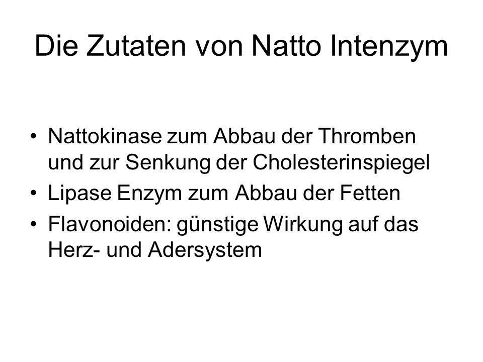 Die Zutaten von Natto Intenzym