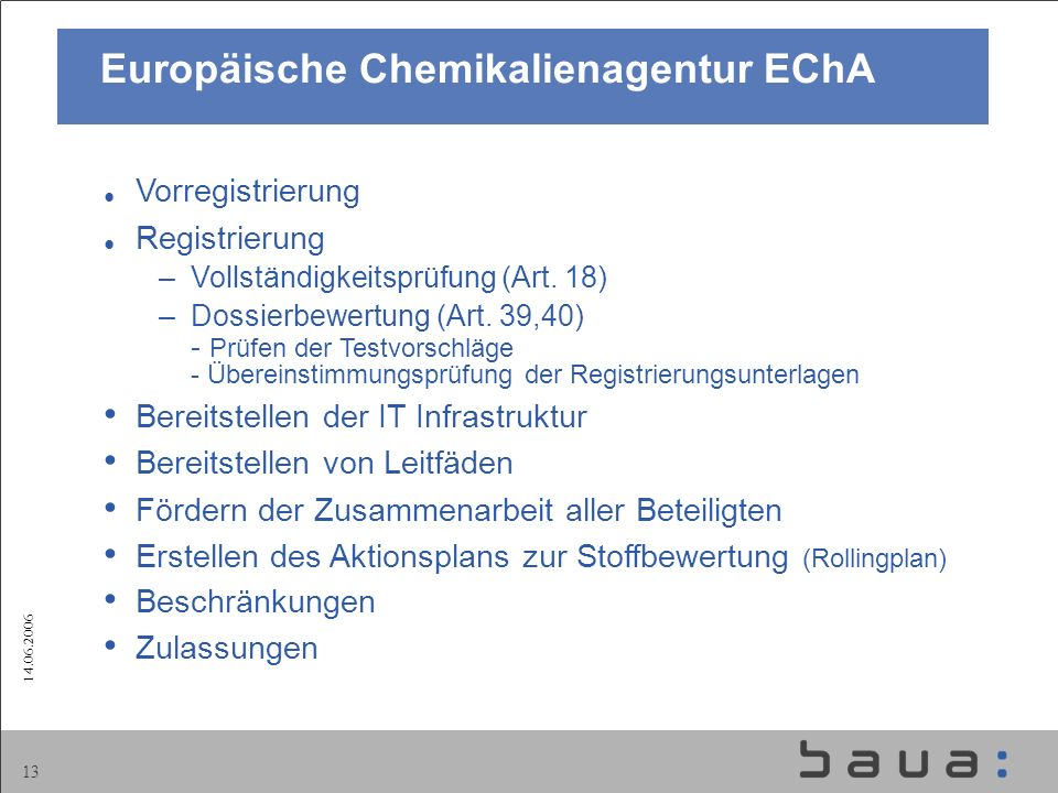 Europäische Chemikalienagentur EChA