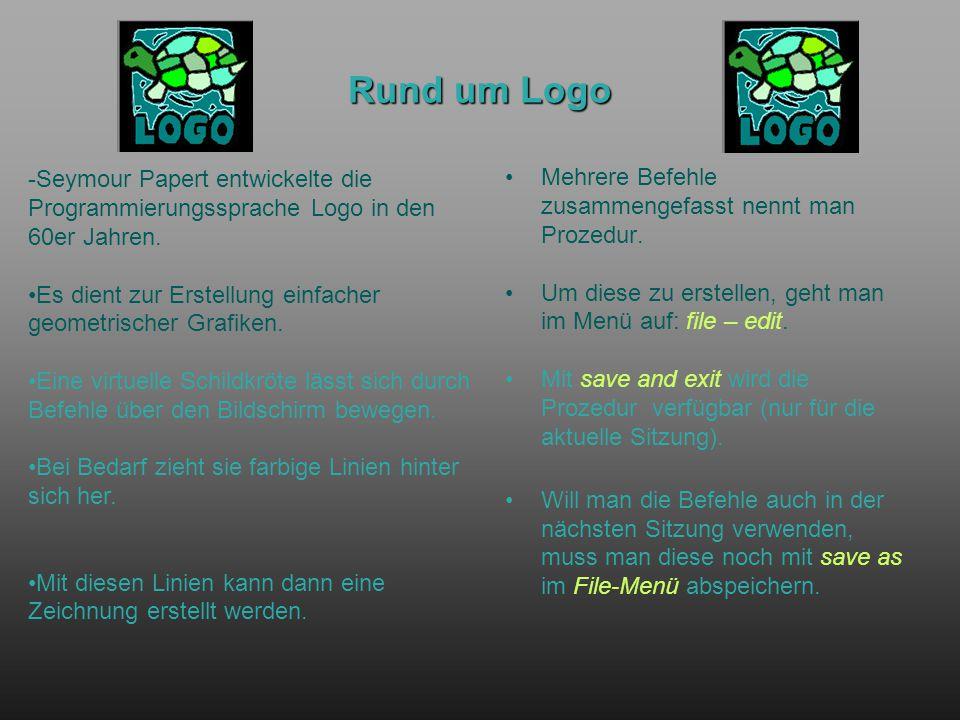 Rund um Logo Mehrere Befehle zusammengefasst nennt man Prozedur.