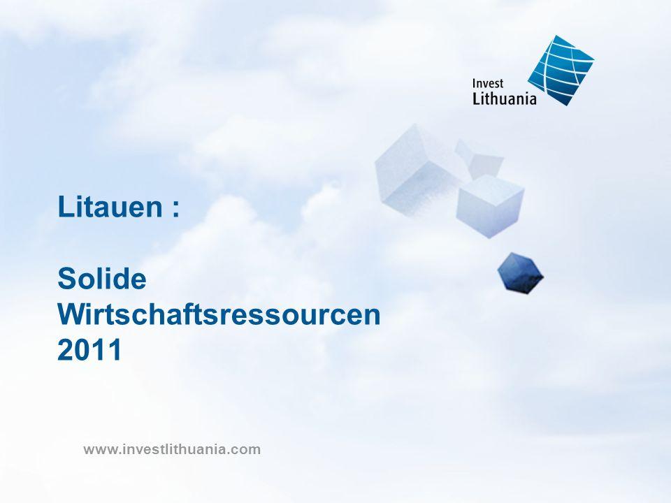 Litauen : Solide Wirtschaftsressourcen 2011