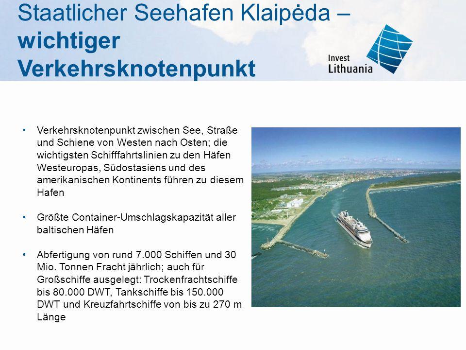Staatlicher Seehafen Klaipėda – wichtiger Verkehrsknotenpunkt