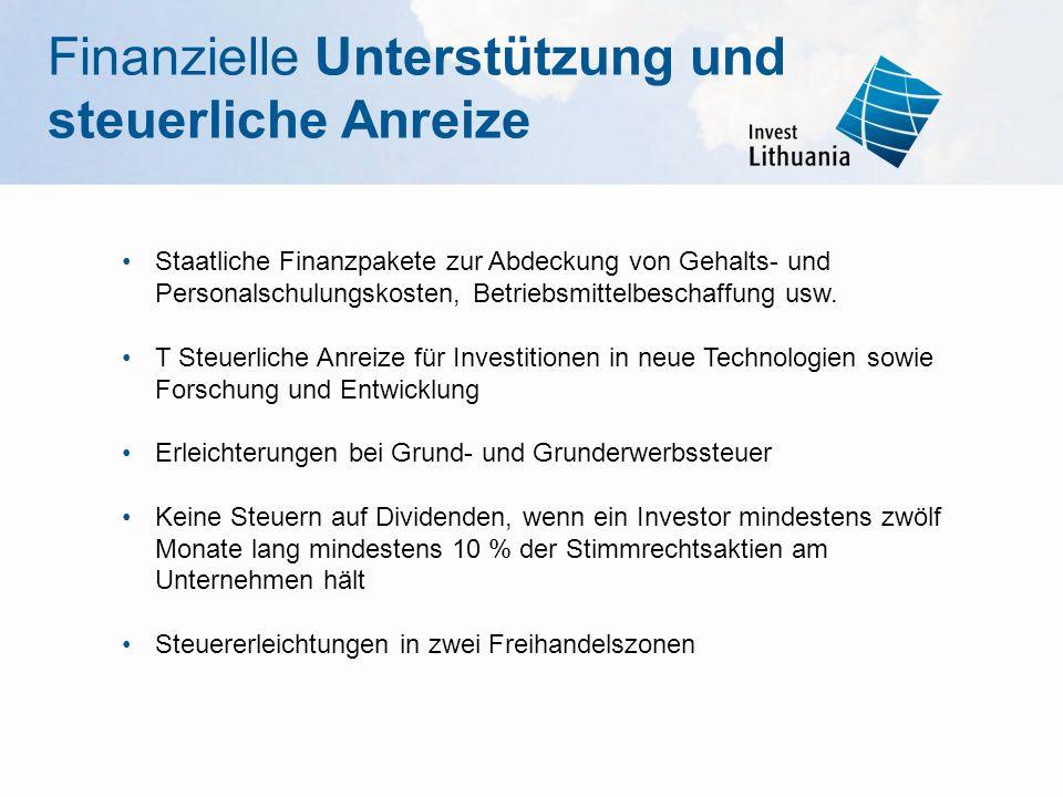 Finanzielle Unterstützung und steuerliche Anreize