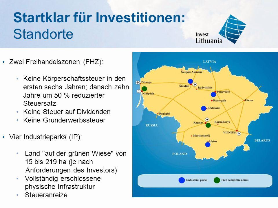 Startklar für Investitionen: Standorte