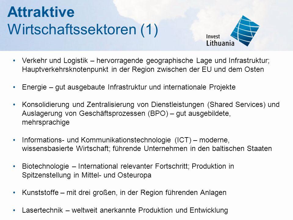Attraktive Wirtschaftssektoren (1)