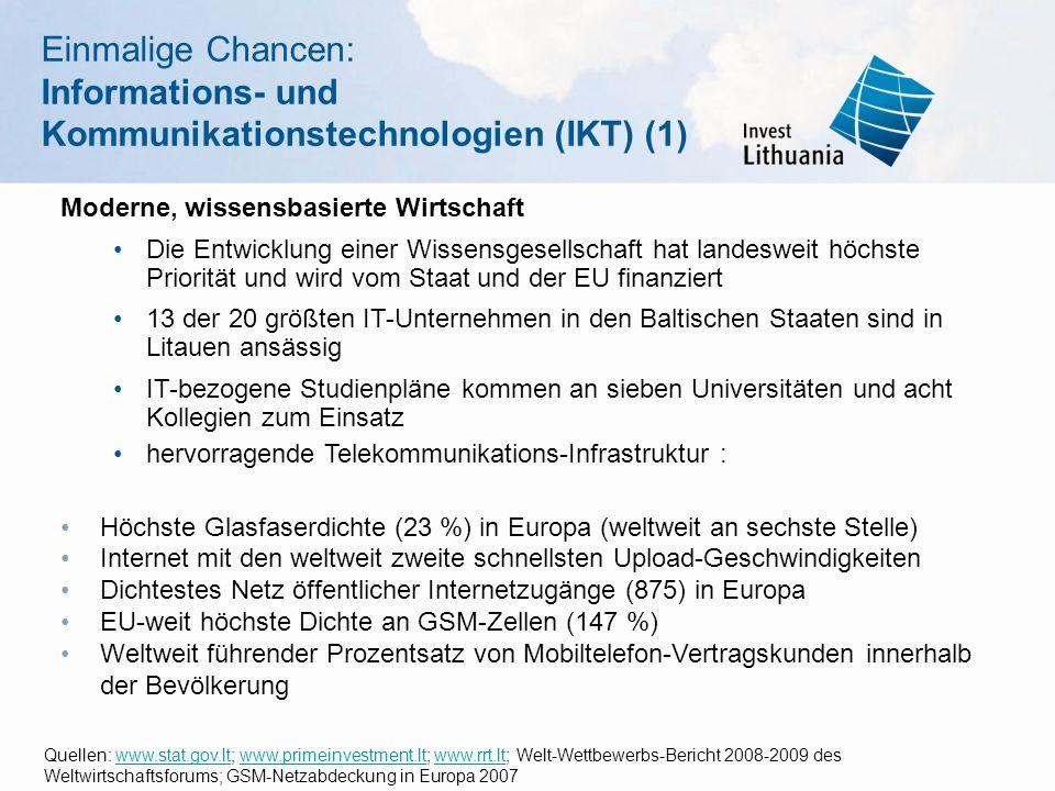 Einmalige Chancen: Informations- und Kommunikationstechnologien (IKT) (1)