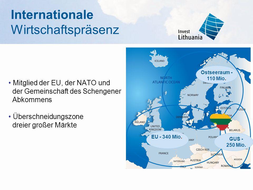 Internationale Wirtschaftspräsenz • Mitglied der EU, der NATO und