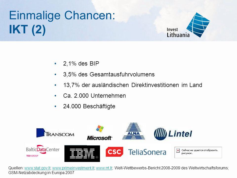 Einmalige Chancen: IKT (2)