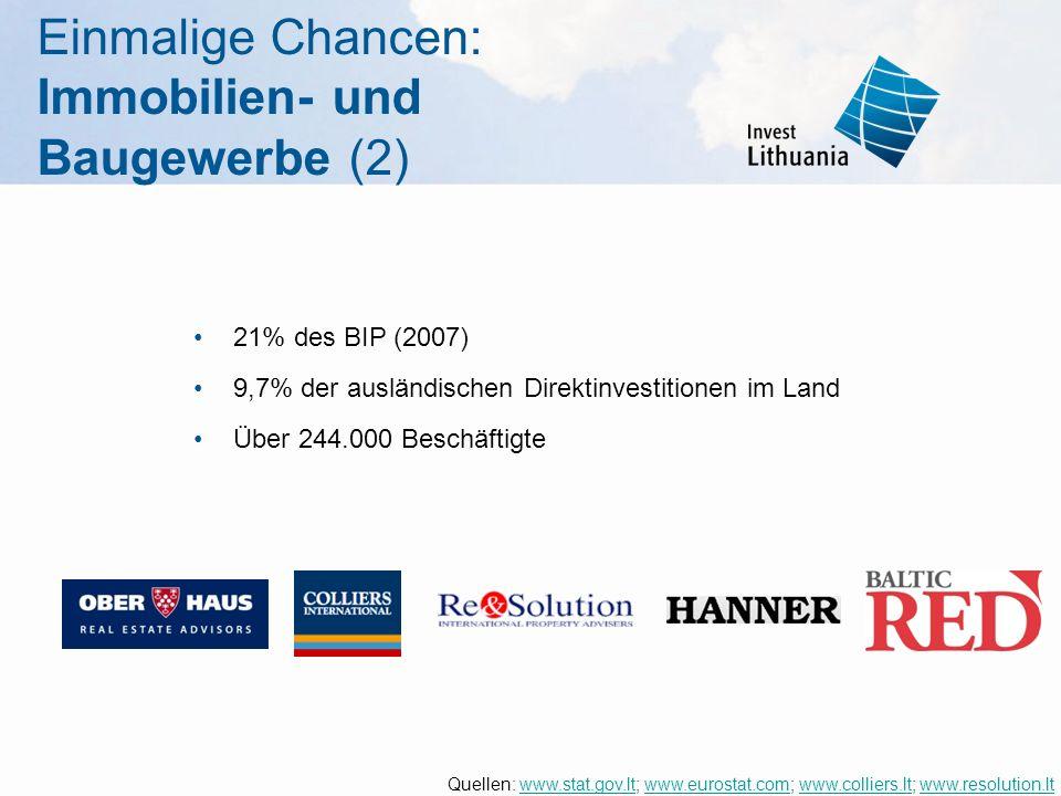 Einmalige Chancen: Immobilien- und Baugewerbe (2)