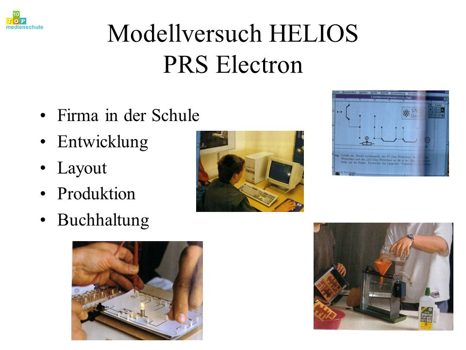 Modellversuch HELIOS PRS Electron