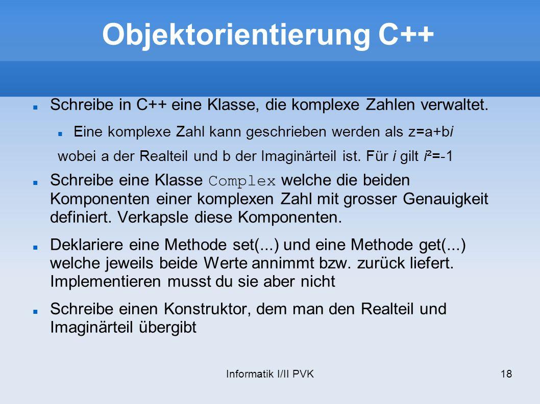 Objektorientierung C++