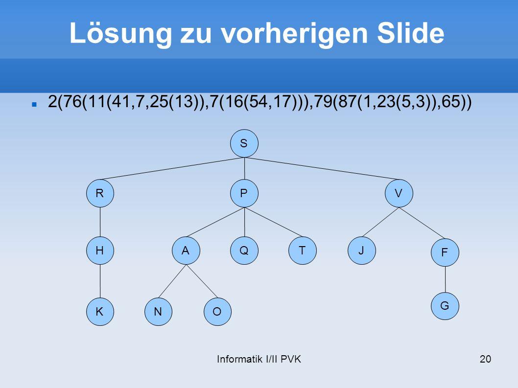 Lösung zu vorherigen Slide