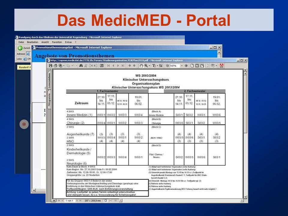 Das MedicMED - Portal